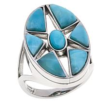 Traveler's Journey Larimar Star Ring