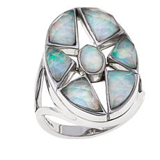 Traveler's Journey Synthetic Opal Doublet  Star Ring