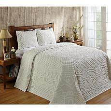 Trevor Collection 100% Cotton Tufted Chenille Bedspread Set - Twin