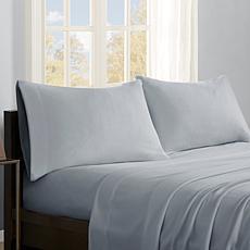 True North by Sleep Philosophy Micro Fleece Sheet Set - Grey - Full