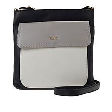 Tula England Colorblock Leather Zip-Top Crossbody Bag
