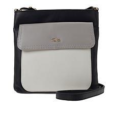 Tula England Colorblock Leather Zip-Top Crossbody Bag