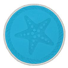 Turkish Cotton Round Beach Towel - Starfish