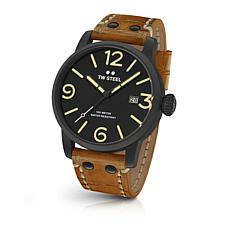 TW Steel Men's Maverick MS31 45mm Sienna Brown Leather Strap Watch