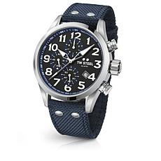 TW Steel Volante Men's Chronograph Blue Strap Watch