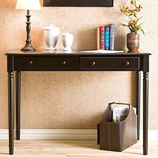 Two-Drawer Writing Desk - Black