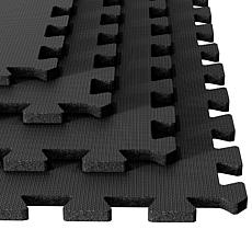 Ultimate Comfort Black Foam Flooring - 4-piece