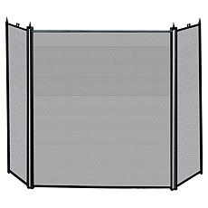 Uniflame Black 3-Fold Fireplace Screen