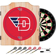 University of Dayton Dart Cabinet with Board and Darts
