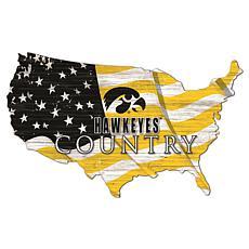 University of Iowa USA Shape Flag Cutout
