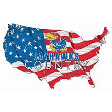 University of Kansas USA Shape Flag Cutout