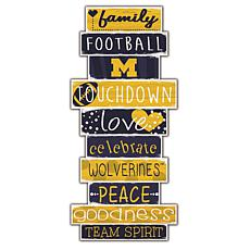 "University of Michigan Celebrations Stack 24"" Sign"