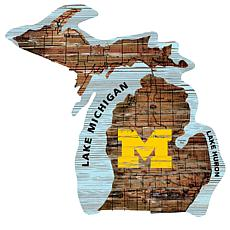 University of Michigan State Distressed State with Logo
