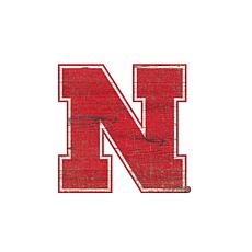 University of Nebraska Distressed Logo Cutout Sign