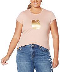 Vanderbilt Jeans Swan-Print T-Shirt