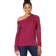 Vanessa Williams Off-Shoulder Knit Sweater