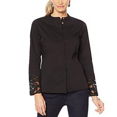 Vanessa Williams Stretch Poplin Shirt