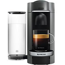 VertuoPlus Deluxe Coffee Espresso Single-Serve Machine in Titanium