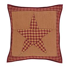 "VHC Brands Ninepatch Star 16"" x 16"" Quilted Pillow"