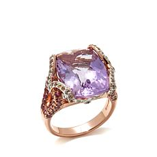 Victoria Wieck 10.51ctw Amethyst and Gem Ring