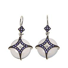 Victoria Wieck Chalcedony, Iolite and Topaz Earrings