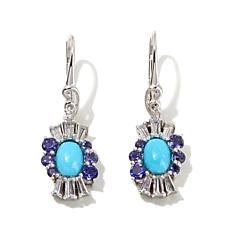 Victoria Wieck Turquoise, Topaz and Iolite Earrings