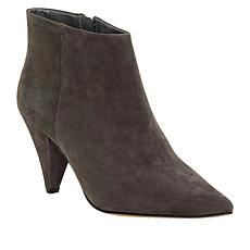 Vince Camuto Adriela Leather Cone Heel Ankle Bootie