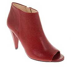 Vince Camuto Azalea Leather Peep-Toe Ankle Bootie