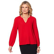 Vince Camuto Bubble-Sleeve Crepe Blouse
