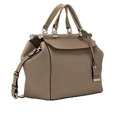 Vince Camuto Carla Beige Leather Satchel