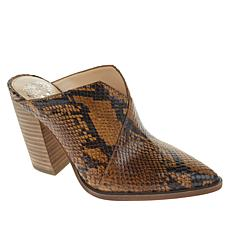 Vince Camuto Crissidy Leather Block Heel Mule