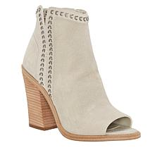 Vince Camuto Kemelly Leather Peep-Toe Ankle Bootie