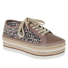 Vince Camuto Kemmiy Leather Lace-Up Platform Sneaker