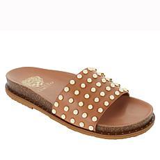 Vince Camuto Kortlen Leather Studded Slide Sandal