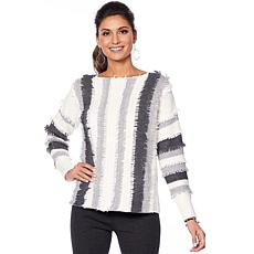 Vince Camuto Loop-Stitch Stripe Sweater