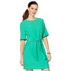 Vince Camuto Parisian Crepe Belted Dress