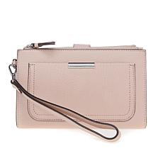 Vince Camuto Reta Cameo Rose Leather Wallet with Strap