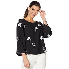 Vince Camuto Tossed Flowers Print Blouse