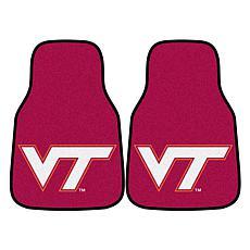 Virginia Tech Carpet Car Mat Set - 2 Pieces