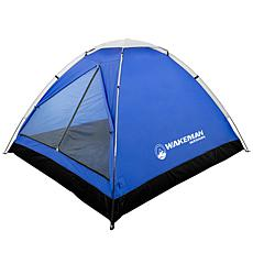 Wakeman Outdoors 2-Person Water Resistant Tent - Blue