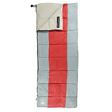 Wakeman Outdoors Sleeping Bag with Carrying Bag - Red/Gray
