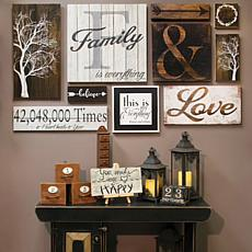Wall Gallery Home Décor 10-piece Set - Family