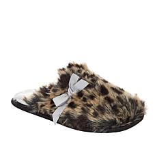 Warm and Cozy Leopard Faux Fur Mule Slipper