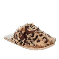 Warm and Cozy Leopard Faux Fur Mule Slipper