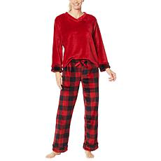 Warm & Cozy Plus V-Neck Pajama Set