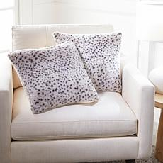 Warm & Cozy Set of 2 Faux Fur Decorative Pillows