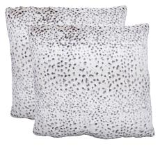 Warm & Cozy Set of 2 Faux Fur Euro Pillows