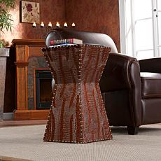 Warrington Faux-Leather Accent Table