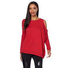 Warrior by Danica Patrick Asymmetric Cold-Shoulder Jersey Top