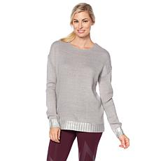 Warrior by Danica Patrick Lace-Up Metallic Sweater
